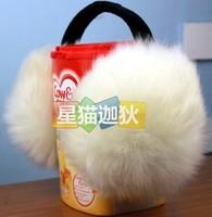Long wool earmuffs ear cover sub- earmuffs ultralarge thermal multicolor