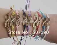 Free shipping +Wholesale 100pcs/lot 8 characters woven bracelet personalized bracelet wholesale fashion bracelets