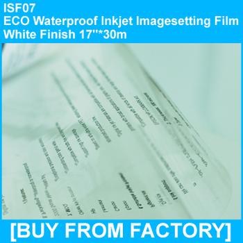 "ECO Waterproof Inkjet Imageseetting Film Clarity Finish 17""*30M"