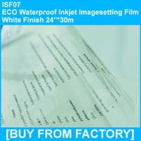 "ECO Waterproof Inkjet Imageseetting Film Clarity Finish 24""*30M"