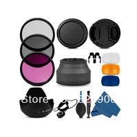 100% Professional  77MM Filter CPL+UV+FLD Set + Lens Hood + Cap + Cleaning Kit for Canon EOS 6D 5D Mark II III f/3.5-4.5 USM
