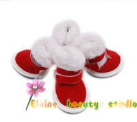 RED Santa Claus boot dogs SHOES Magic bandage pet shop product supplies christmas grooming  accessories