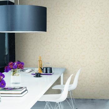 Modern European tapete room for luxury living room TV backdrop acanthus leaf embossed PVC wallpaper