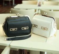 New arrival women shoulder handbag chain lock button lady tote bag serpentine clip female messenger bag #0123