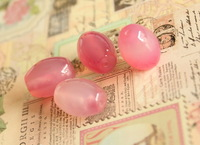 Free shipping  jewelry accessories 12*16mm 2pcs/bag high quality natural pink oval agate loose beads for bracelet jewelry making