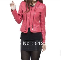 Wholesale cultivate one's morality spring 2013 new female washed leather jackets long sleeve leather motorcycle jacket