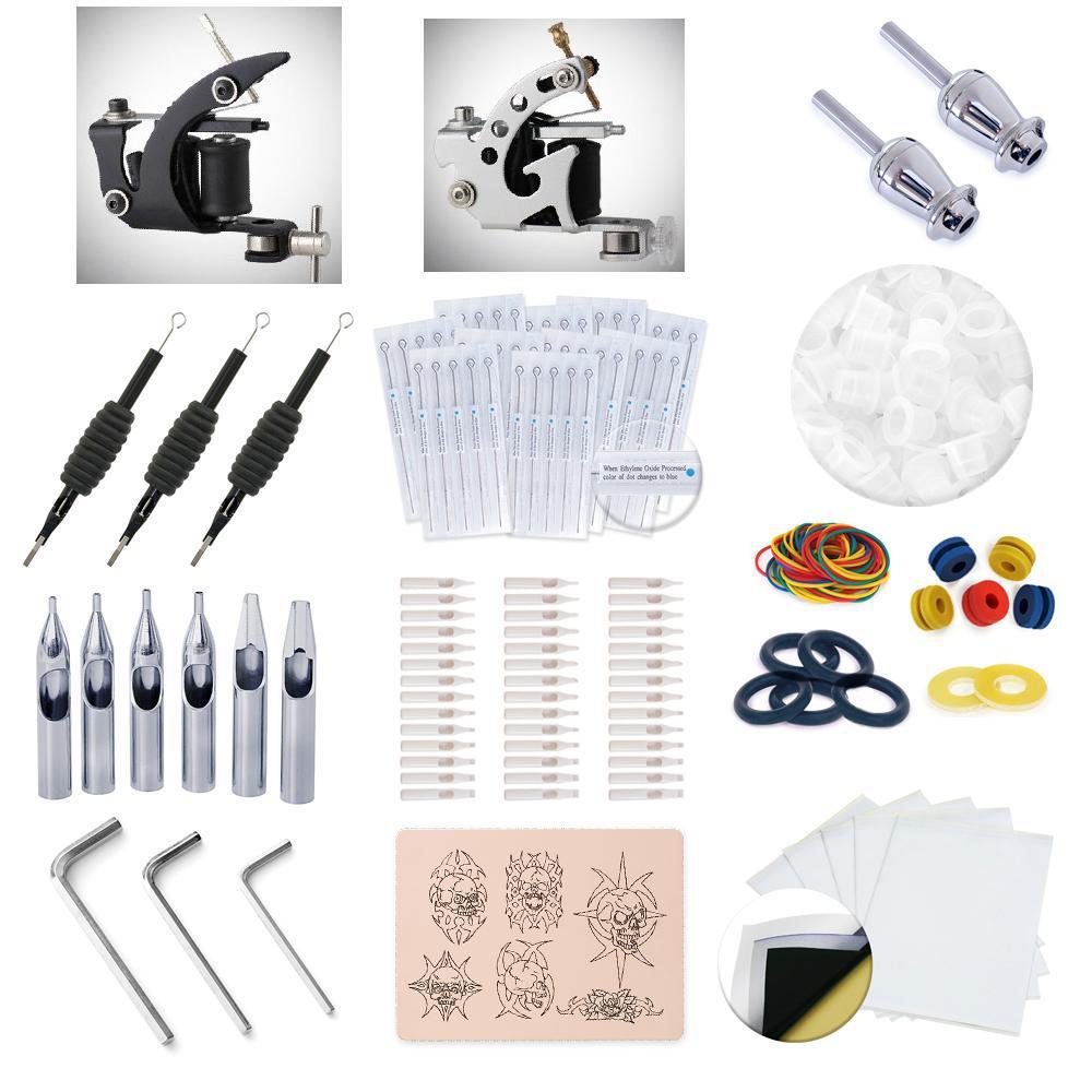 2 Machine Tattoo Needle Mini Supply Kit Set 225+ Piece Professional Tattoo Supply Kit(China (Mainland))