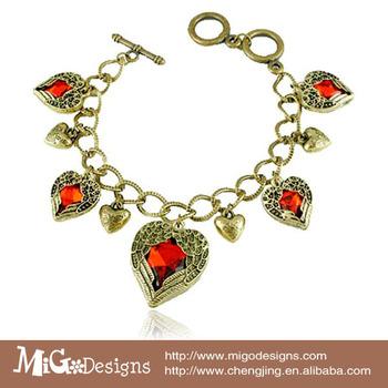 Gift box  Migodesigns 2013 star luxury jewelry red stone austria crystal bohemian vintage friendship bracelets