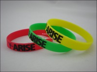 Arise Wristband, Embossed Printed Bracelet, Custom Design are Welcome, 202X12X2MM, 100pcs/Lot, Free Shipping