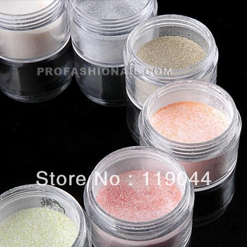 Free shipping 10 colors Nail Art Acrylic Laser Powder Dust For Nail Art Frence Tips  NA210