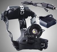 1800 Lm CREE XML T6 LED 18650 Adjustable Zoom Headlamp Headlight +AC/Car Charger