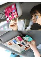 3Color Multi-function Sun Visor Pouch Receive Saddlebag Car Hang Bag Card Bag Stuff Sacks