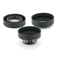 100% guaranteed 58mm Rubber 3in 1  Collapsible Lens Hood for Nikon D5000 D5200 D7000  Digital SLR Camera