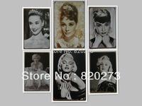 Free shipping 20x30cm Audrey Hepburn Marilyn Monroe retro vintage metal painting Bar pub home Wall Decor Retro Metal Art Poster