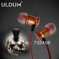 ULDUM 2014 golden super man metal enhanced in-ear earphone for mp3/4