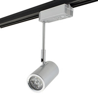 Track lighting ming mounted led spotlight 4 1w high power led guide rail background wall according to the light painting full