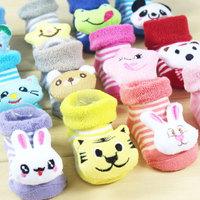 Free shipping Lovely Cartoon Baby Socks Anti Slip Cotton With Animal Unisex Slipper Shoes Newborn 0-6Month