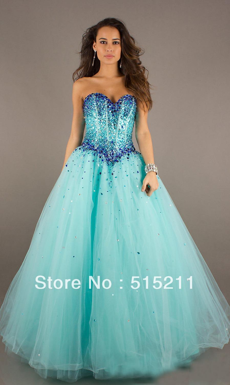 Blue Puffy Prom Dresses | Dress images