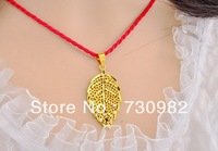 9k 14k 18k yellow gold pendants golden leaf  style fashion suits for chain necklace  party  gift