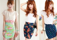 2013 summer new women / color printed skirt / bag hip skirt / elasticity skirts / step skirt nine kinds of styles