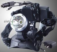 1600 Lm CREE XM-L XML T6 LED 18650 Headlamp Headlight +Car Charger