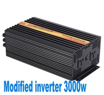 3000W Off Grid Tie Inverter DC12V/24V/48V Modified Sine Wave Inverter for Wind Turbine/Solar System, 6000W Peak Power