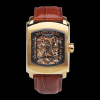 Stuhrling male watch classic square cutout mechanical watch strap table 317