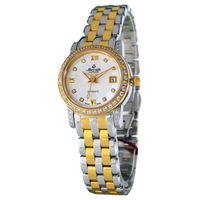 Merveille classic stainless steel cutout mechanical waterproof ladies watch al7338ddt