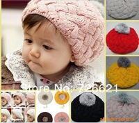 Free Shipping New Children Warm Winter Knitting Wool Crochet Beanie Soft Nap Kid Hat Fashion /Girls Boys  Caps
