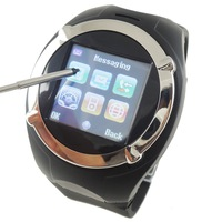 "Free Shipping 1.5"" TFT Touch Screen Unlocked GSM Cell Watch Phone Mobile Camera Support WAP GPRS Quad-band Bluetooth MP3/MP4/FM"