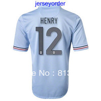 2013 -2014 Thailand Quality soccer jersey France #12 HENRY blue jersey 13/14 Season National team football hot sell