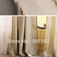 Wholesale solid color cotton and linen cloth/cotton and linen curtain fabric sofa pillow cotton and linen cloth   500020