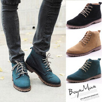 Free shipping flats winter boots Spring vintage high-top casual shoes male shoes british style martin boots