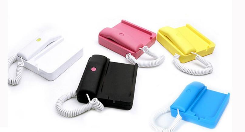 Free shipping Apple phone landline handset, iPhone4s iphone5 radiation protection handset,retro handset,mobile phone base mic(China (Mainland))