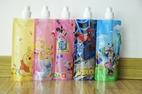 10piece Free Shipping!Cartoon Design Foldable soft water bags ,Outside soft drinking bags 16OZ (480ml)