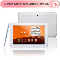 10 inch Sanei N10 quad core 3G phone tablet androd 4.1 Qualcomm quad core inbuilt GPS Bluetooth sim slot 1280*800 1G/4G Tablet
