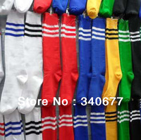 Free shipping striped cotton high quanlity soccer socks,football cheap sock,plain stockings,students sports sock