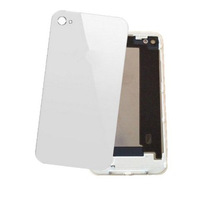 Brand New White Glass Back Door Battery Housing Back Cover for iPhone 4 GSM