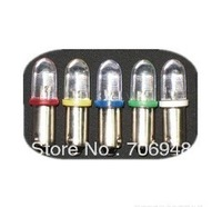 EMS free to USA 5pcs 12V BA9S 9MM LED CAR AUTO LIGHT BULB LAMP Round head