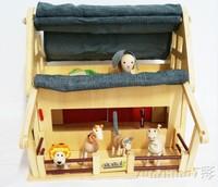 Organic anamalz maple animal dolls treehouse and barn for animals
