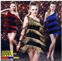 Brand New Guoisya Women Evening Party Dress Hallowmas Christmas Gift Gown Fancy Tassel Latin Dance DJ Clothes Dance Dress Free