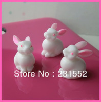 wholesale 100pcs anime figurines resin rabbit kawaii cabochons flatback embellishments scrapbooking diy phone decoration