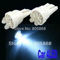 2014 Real Wholesale 10pcs/lot T10 4 Led Car 194 168 192 W5w Light Automobile Bulbs Lamp Wedge Lights Bulb License Plate Parking