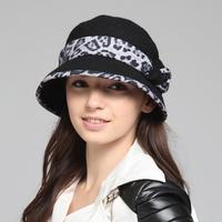 New arrival kenmont women's hat autumn and winter woolen hat fashion gentlewomen bow leopard print km-2242