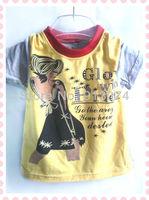 Wholesale summer 2013 kids t-shirts litter boys t shirt korean children clothing wholesale girl summer tops short sleeve