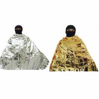 Gold and silver two-color emergency blanket emergency blanket rescue blanket outdoor insulation blanket emergency sleeping bag