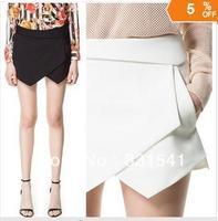 Fashion brand trend of irregular stromatolith roll up hem mini shorts culottes skirt for women's female 2013 Drop shipping