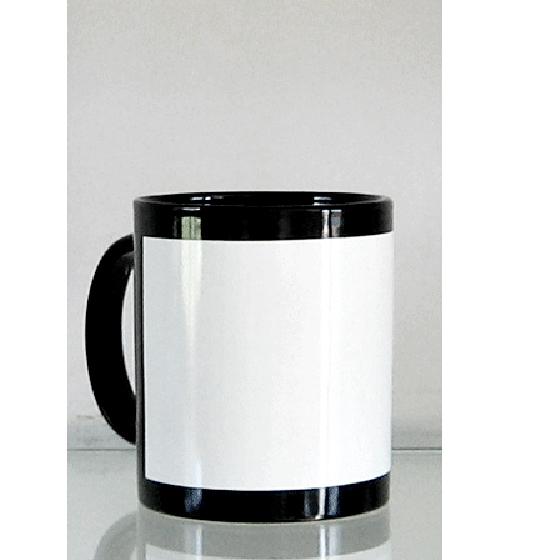 Black Flower blank color changing mug(China (Mainland))