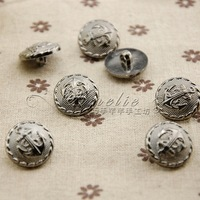 21mm handmade bow hair accessory diy material grey iron anchor