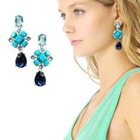 2013 New Fashion Elegant  Green Stud Earrings